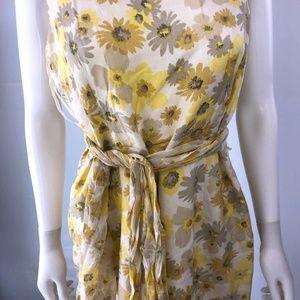 Ann Taylor Wrap Dress Floral Spaghetti Strap